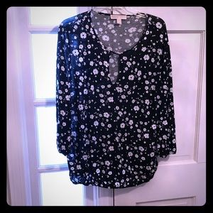 Michael Kors black and white floral top